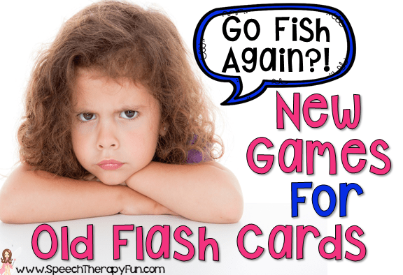 Speech and Language Flash Card Activities
